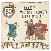 80th Birthday Hysterical Heritage Greeting Card