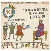 30th Birthday Hysterical Heritage Greeting Card