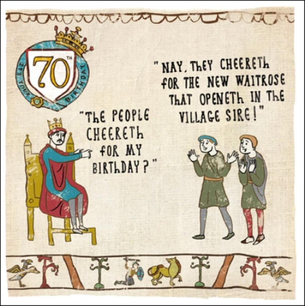 70th Birthday Hysterical Heritage Greeting Card Cards Love Kates