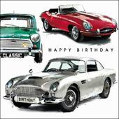 Classic Car Birthday Greeting Card