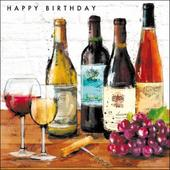 Classic Wines Birthday Greeting Card