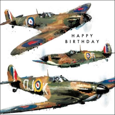 Classic Spitfire Birthday Greeting Card