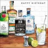 Gin & Tonic Birthday Greeting Card