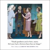 Box Set Binge Funny Drama Queen Birthday Greeting Card