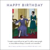 My Age Funny Drama Queen Birthday Greeting Card