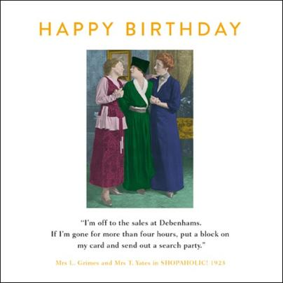 Debenhams Sale Funny Drama Queen Birthday Greeting Card