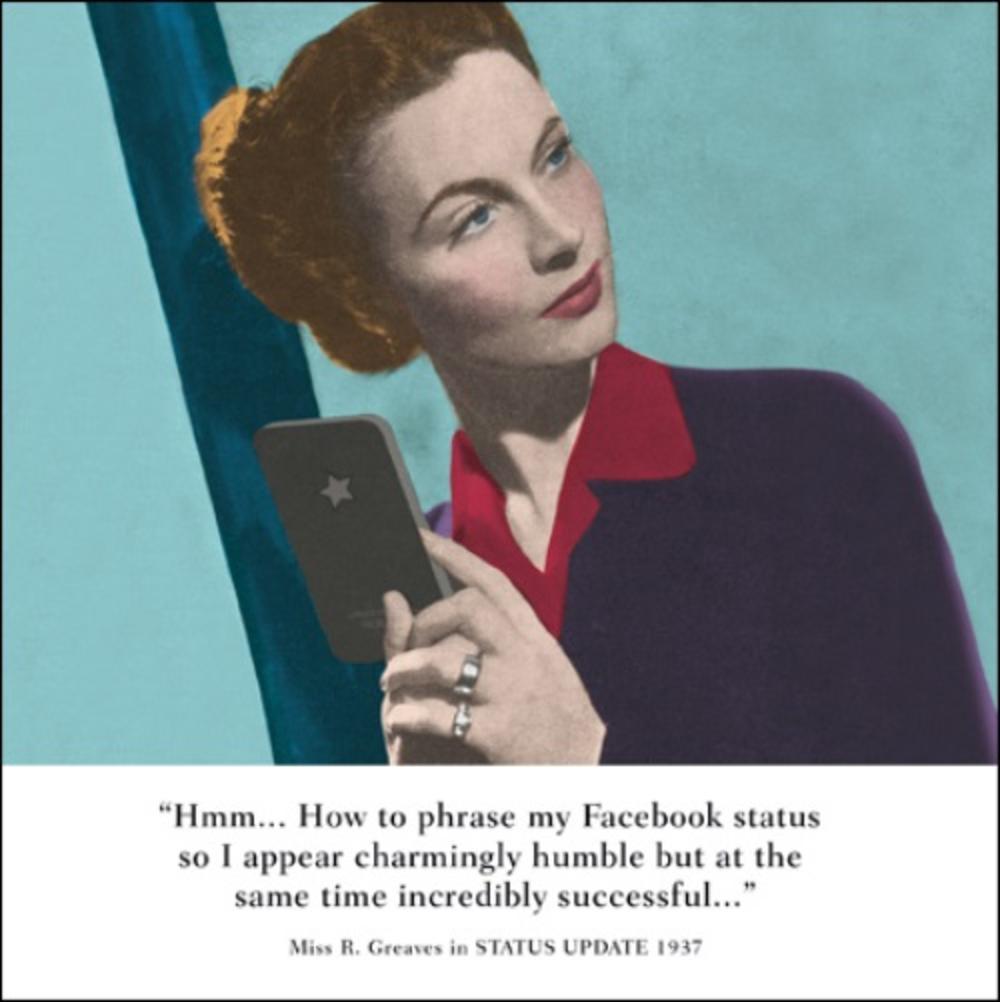 Facebook Status Funny Drama Queen Birthday Greeting Card