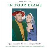 Good Luck Exams Funny Drama Queen Greeting Card
