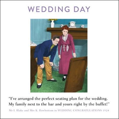 Wedding Day Funny Drama Queen Greeting Card
