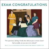 Exam Congratulations Funny Drama Queen Greeting Card