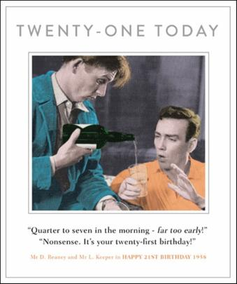 21st Birthday Funny Drama Queen Birthday Greeting Card