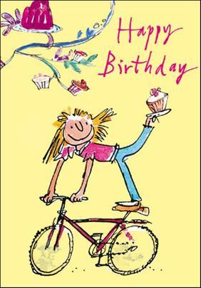 Quentin Blake Girls Birthday Greeting Card