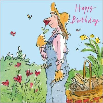 Female Happy Birthday Quentin Blake Greeting Card