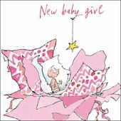 New Baby Girl Quentin Blake Greeting Card