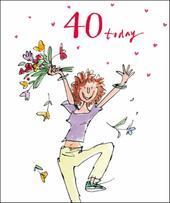 Quentin Blake Female 40th Birthday Greeting Card