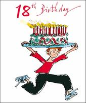 Quentin Blake Male 18th Birthday Greeting Card