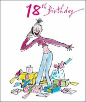 Quentin Blake Female 18th Birthday Greeting Card