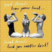 Good Friends Retro Humour Birthday Card