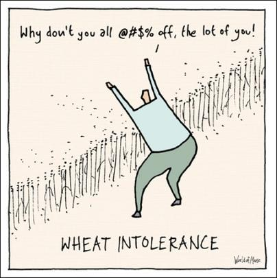 Wheat Intolerance Funny World Of Moose Humour Greeting Card