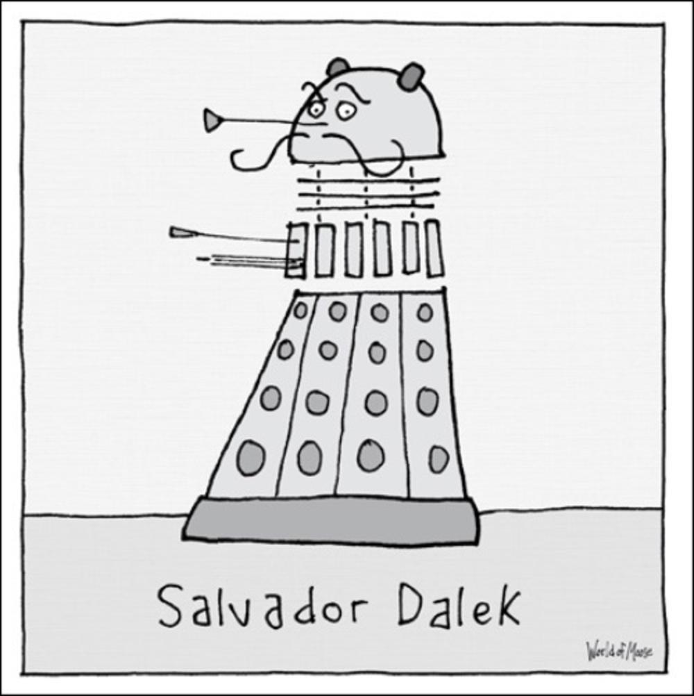 Salvador Dalek Funny World Of Moose Humour Greeting Card