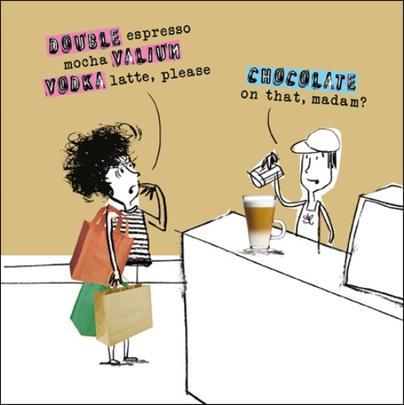 Valium Vodka Latte Funny Proctor Proctor Humour Greeting Card