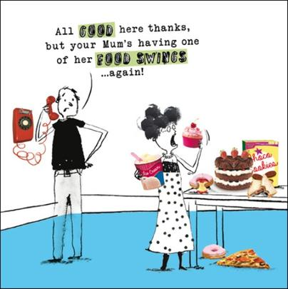 Food Swings Funny Proctor Proctor Humour Greeting Card