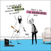 Bloody Router Funny Proctor Proctor Humour Greeting Card