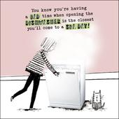 Dishwasher Spa Day Funny Proctor Proctor Humour Greeting Card