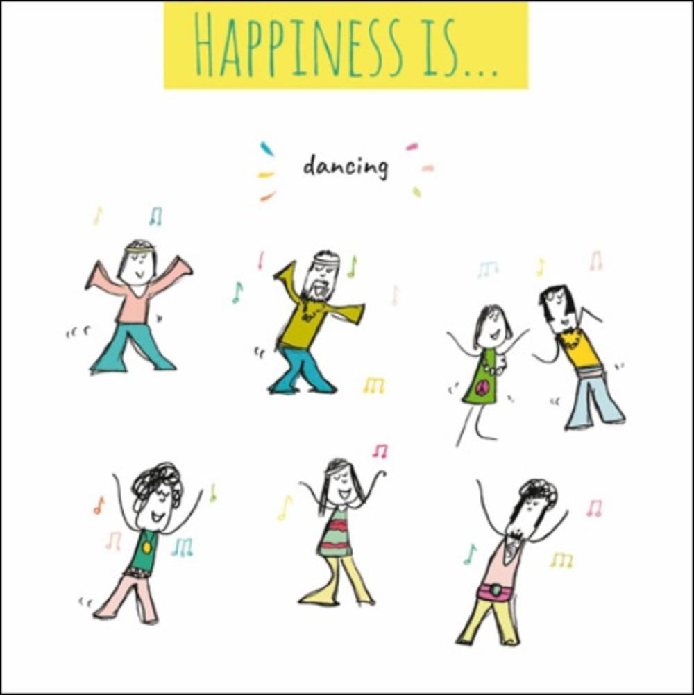Happiness Is... Dancing Greeting Card