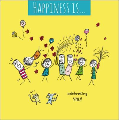 Happiness Is... Celebrating You Greeting Card