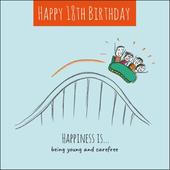 Happiness Is... Happy 18th Birthday Greeting Card