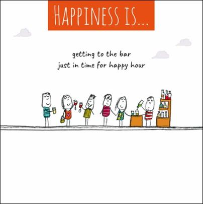 Happiness Is... Happy Hour Greeting Card