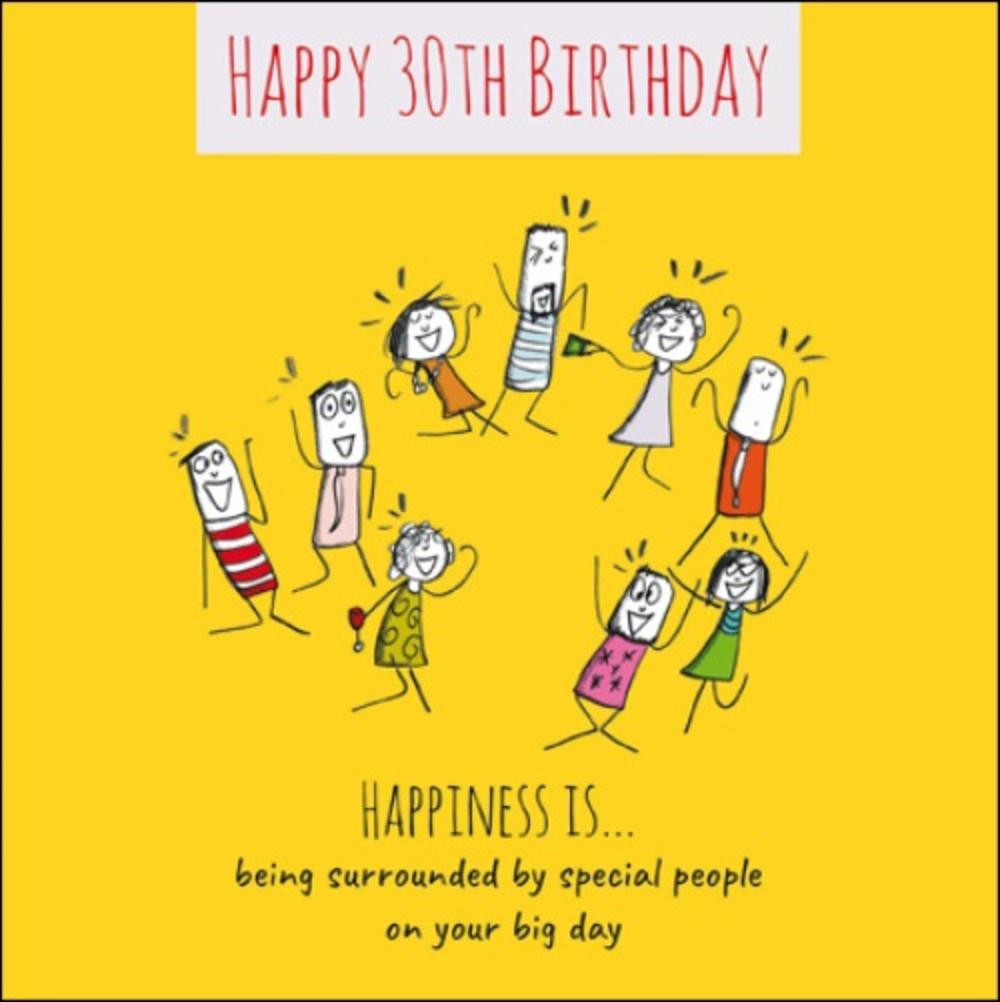 Happiness Is... Happy 30th Birthday Greeting Card