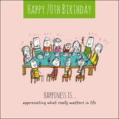Happiness Is... Happy 70th Birthday Greeting Card