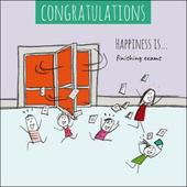 Happiness Is... Finishing Exams Congratulations Greeting Card