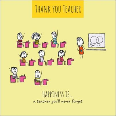 Happiness Is... Thank You Teacher Greeting Card