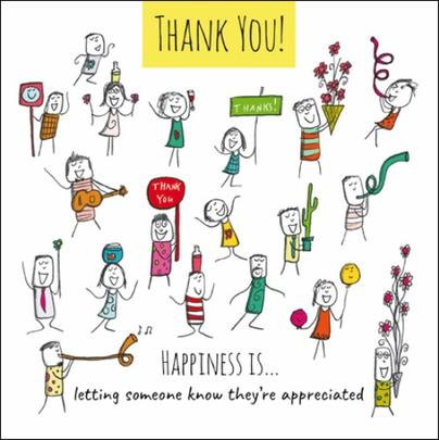 Happiness Is... Thank You You're Appreciated Greeting Card