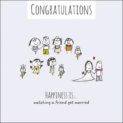 Happiness Is... Wedding Congratulations Greeting Card
