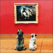 Doggy Self-Portrait Framed Photo Art Greeting Card