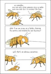 Bee Sting Funny They Can Talk Greeting Card