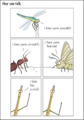 Stick Insect Funny They Can Talk Greeting Card