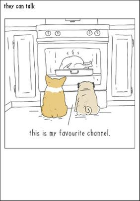 Favourite Channel Funny They Can Talk Greeting Card
