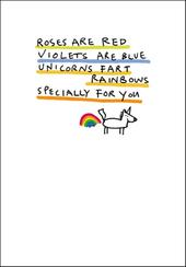 Unicorns Fart Rainbows Funny Bing Eastwood Greeting Card