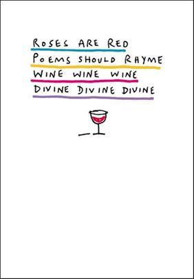 Wine Wine Wine Funny Bing Eastwood Greeting Card