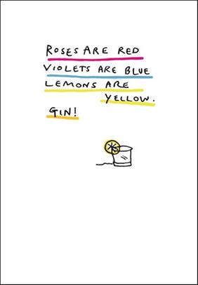 Lemons Are Yellow Gin Funny Bing Eastwood Greeting Card