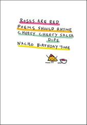 Nacho Birthday Time Funny Bing Eastwood Greeting Card