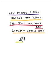 Bitchy Little Bird Funny Bing Eastwood Greeting Card