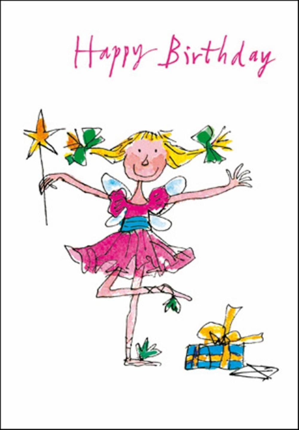 Quentin Blake Birthday Fairy Greeting Card