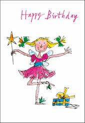 Quentin Blake Birthday Fairy Greeting Card