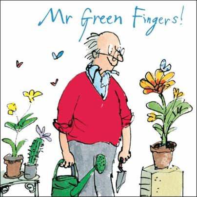 Mr Green Fingers Birthday Quentin Blake Greeting Card